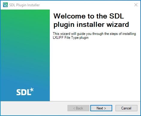 1er écran d'installation du plug-in