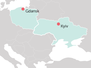 Gdansk Kyiv map
