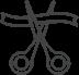 Icône ciseaux