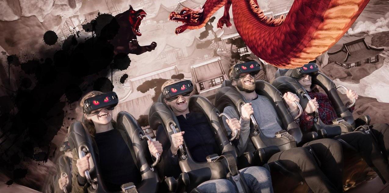 VR-berg-och-dalbanan på Tivoli i Köpenhamn