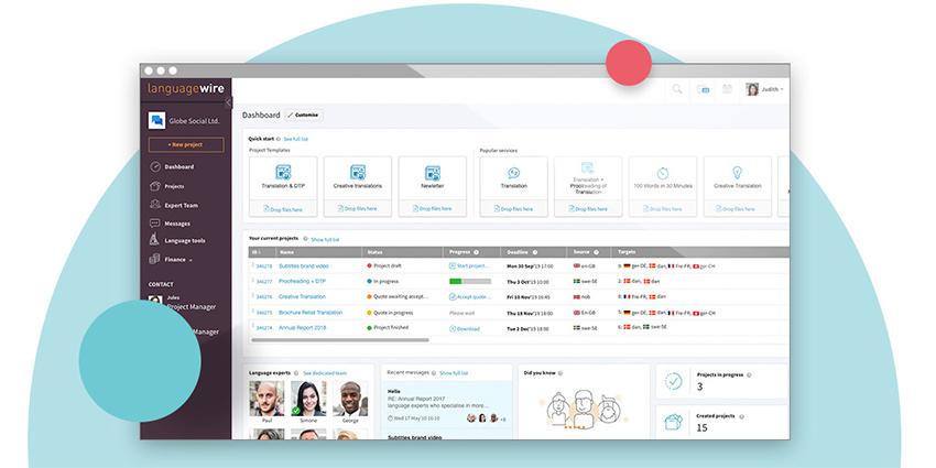 La plataforma de LanguageWire