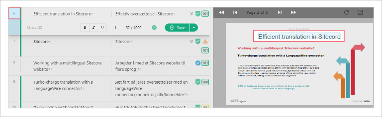 Smart Editor screenshot, highlighting the validation in-context preview for supported formats, in this case, PowerPoint.