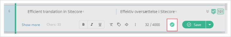 OK symbol on Smart Editor