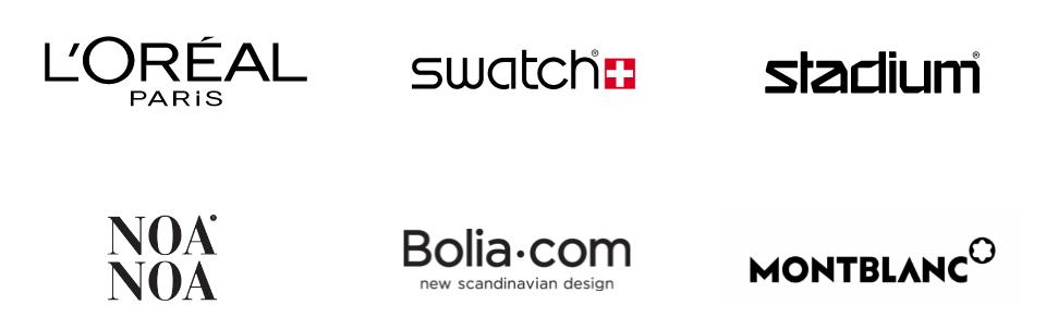 Logotyper för detalj- och e-handel