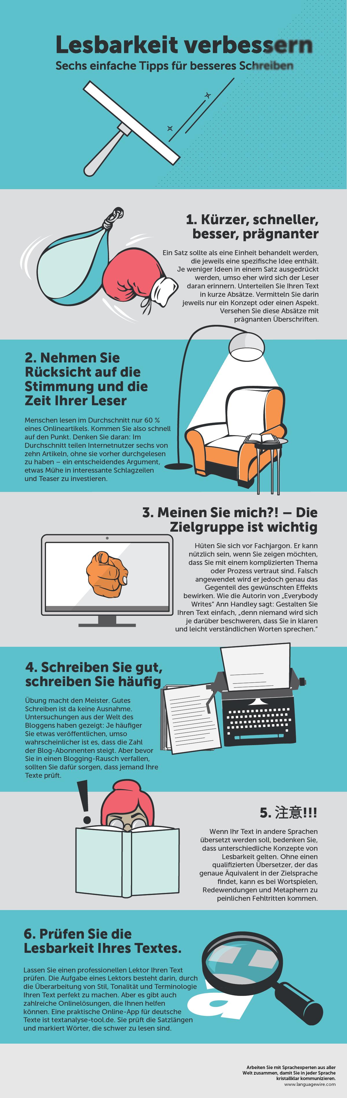 Bessere Lesbarkeit 6 einfache Tipps für besseres Schreiben