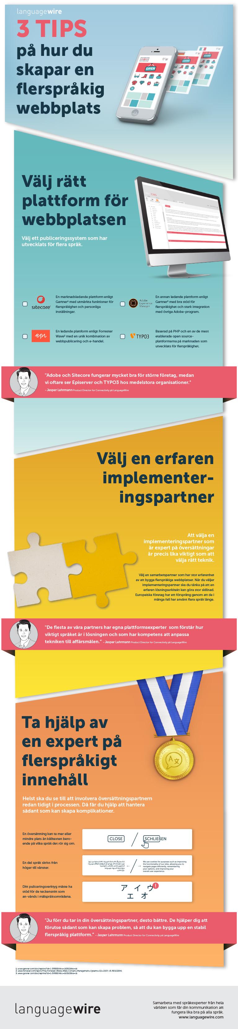 3 tips på hur du skapar en flerspråkig webbplats