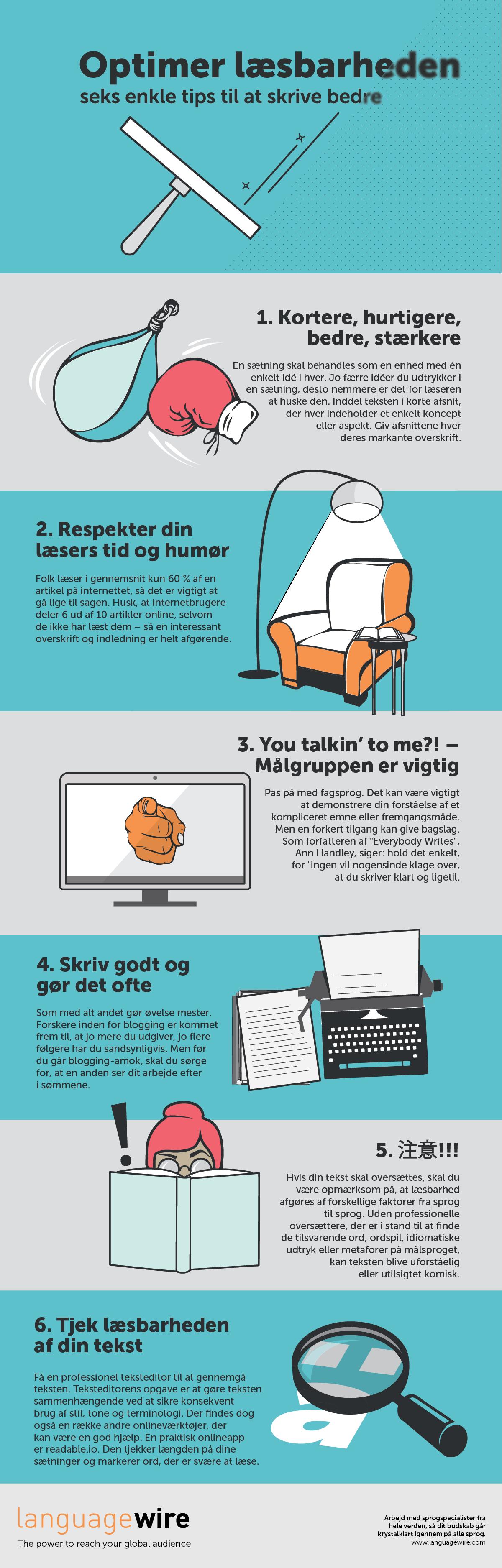 Optimer læsbarheden 6 enkle tips til at skrive bedre