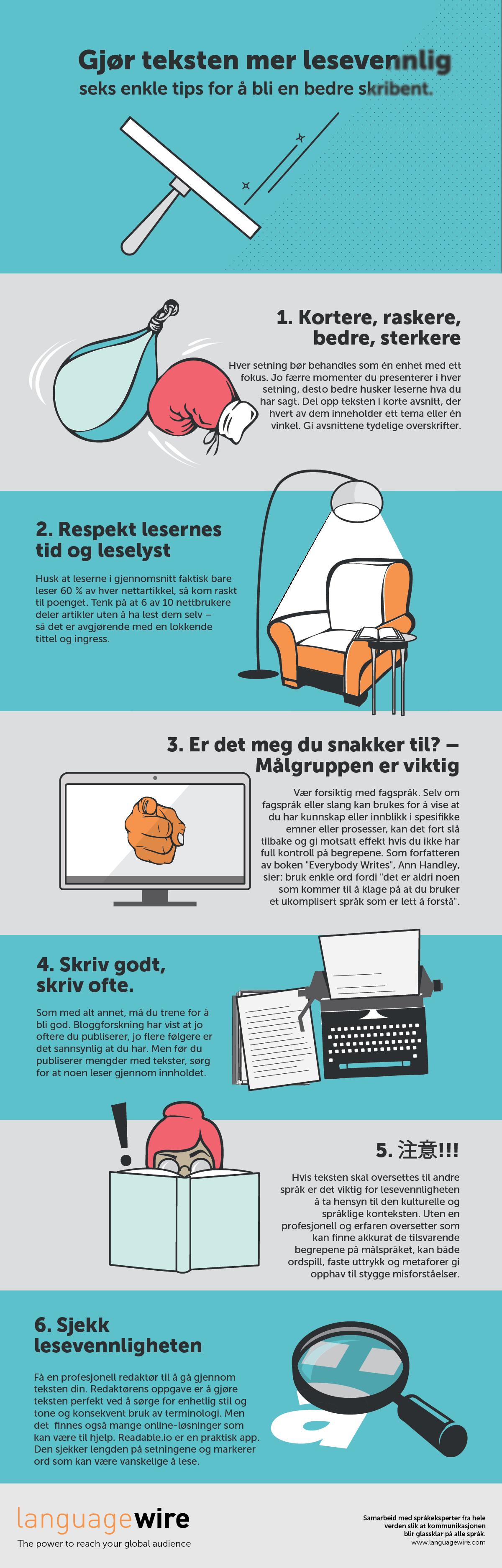 Skriv mer lesesvennlig 6 enkle tips for å bli en bedre skribent
