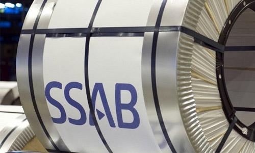 SSAB logo on a turbine