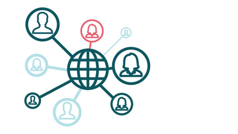 Netwerk met mensen
