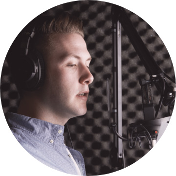 Man doing voiceover