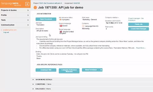 Agito Translate API Jobs