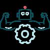 pictogram gespierde robot