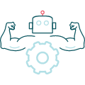 muskuløs robot-ikon
