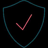 Illustration af sikkerhedsskjold