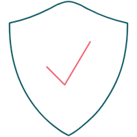 Security shield illustration