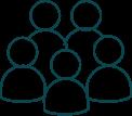 Pictogram groep mensen