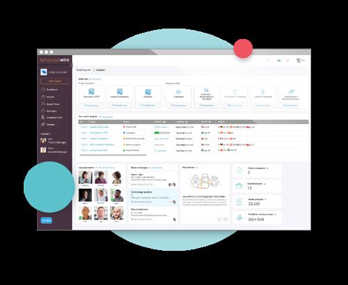 Platform cover - Screenshot van LanguageWire Platform