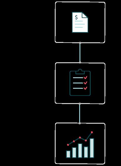 Spend management workflow illustration