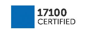 Flagga för ISO 17100-efterlevnad