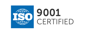 ISO 9001 compliance flag