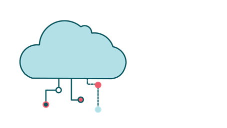 Illustration of a network cloud