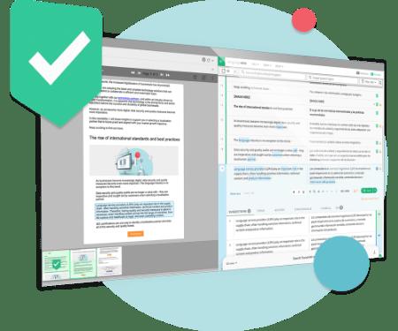Oberfläche von Smart Editor mit grafischen Elementen