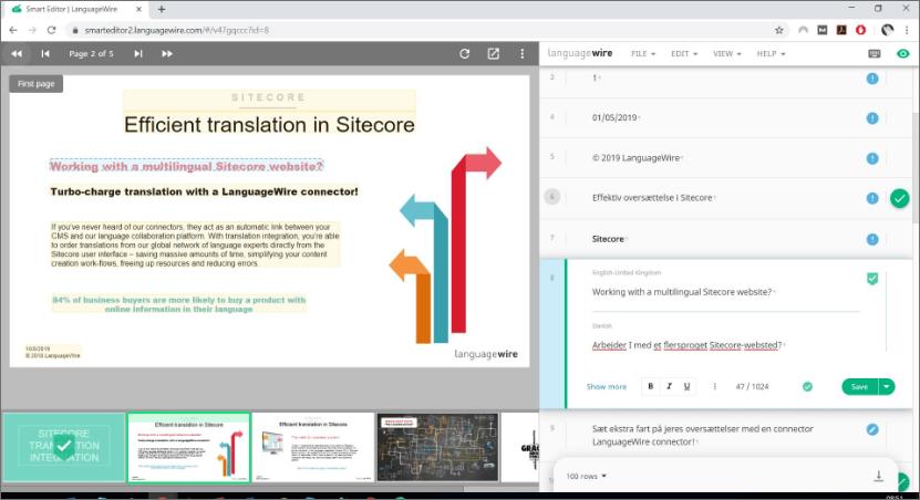 Smart Editor-Benutzeroberfläche