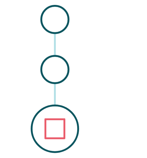 1, 2, 3 process icon coloured