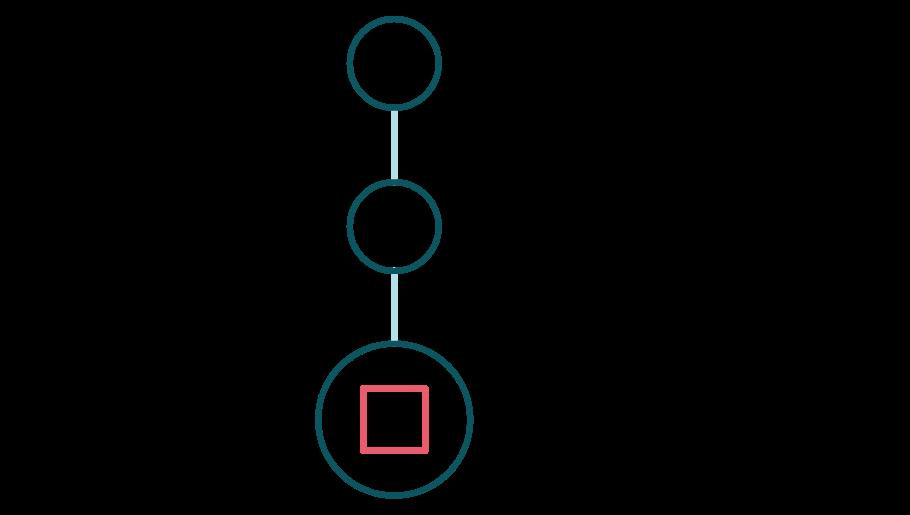 1, 2, 3-process, färgad ikon